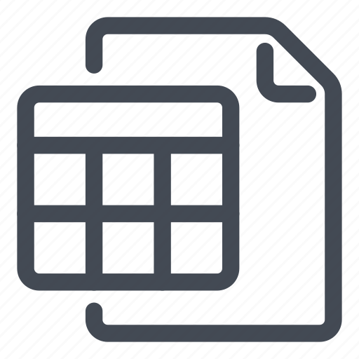 document, line, table icon