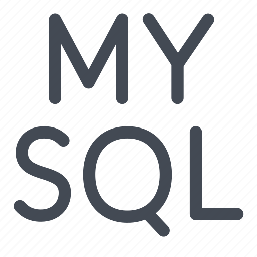 language, logo, mysql, query, structured icon