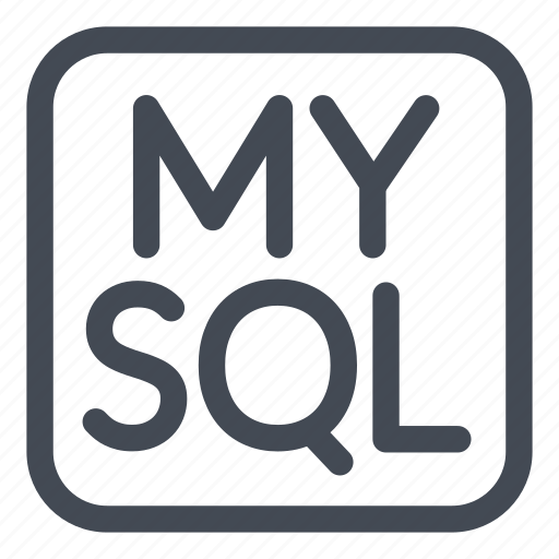 Badge, language, logo, mysql, query, rounded, structured icon - Download on Iconfinder
