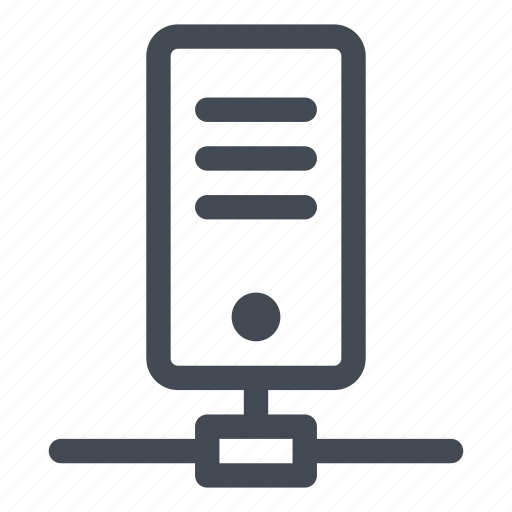 connected, connection, data, network, power, server icon