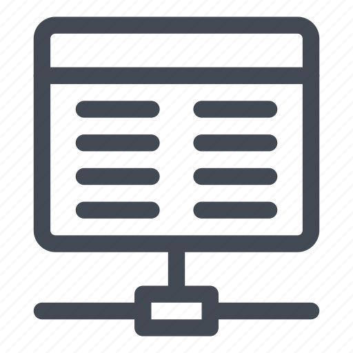 connected, connection, line, network, query icon