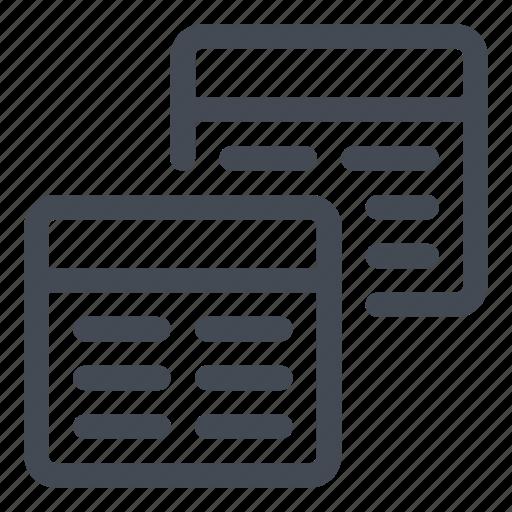documents, line, queries icon
