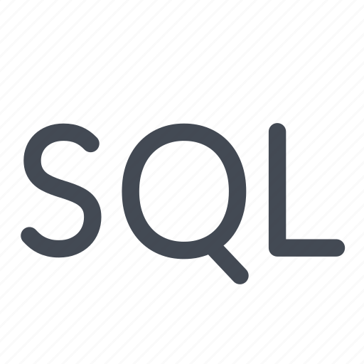 language, line, logo, query, sql, structured icon