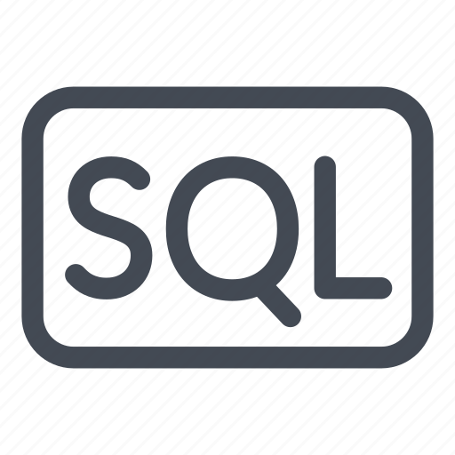 badge, language, line, logo, query, sql, structured icon