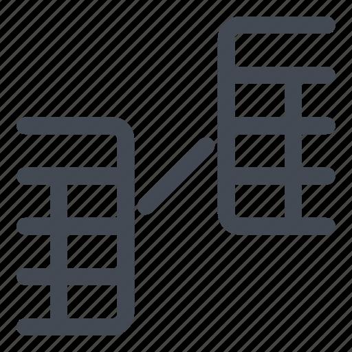 architecture, line, structure icon