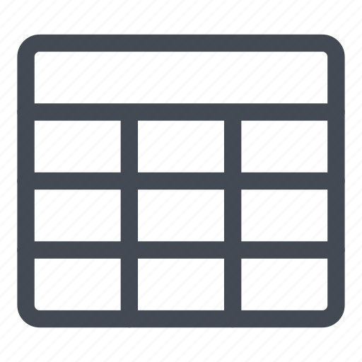 cells, line, new, table icon