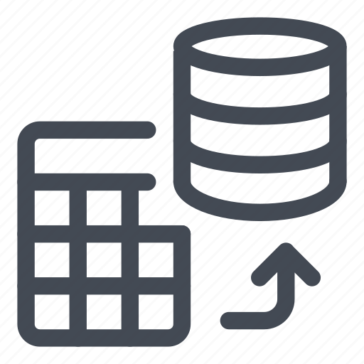 add, data, database, line, save, table, to icon