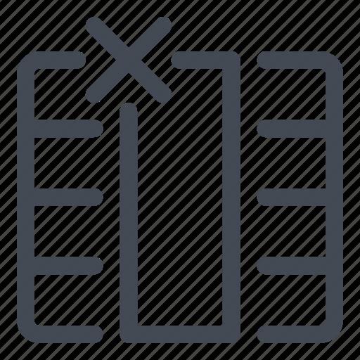 column, cross, delete, entire, line, table icon