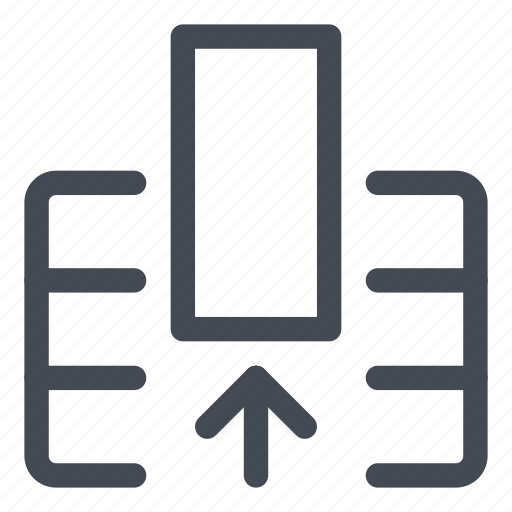 column, entire, extract, line, table icon