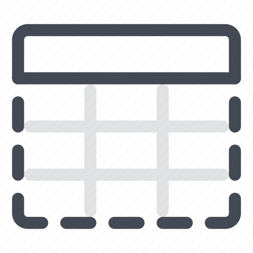 all, cells, column, content, hide, row, table icon