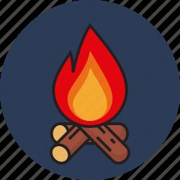 adventure, fire, passion, travel icon