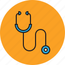 healthy, hospital, medical, stethoscope icon