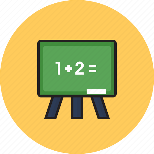 board, education, math, study icon