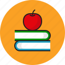 apple, book, education, idea icon