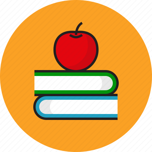 apple, book, education, idea icon