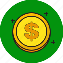 coin, currency, finance, money icon