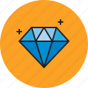 blue, diamond, jewelry, rich icon