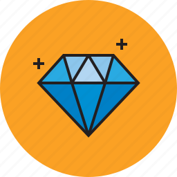 blue, diamond, jewelry, rich icon