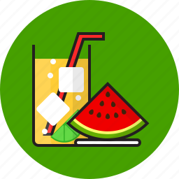 food, fruit, hot, summer, water icon