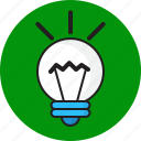 bulb, design, idea, light icon