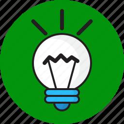 bulb, design, idea, light icon