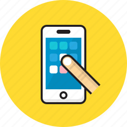 application, call, phone, smartphone icon