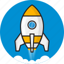 cloud, code, idea, rocket, space, speed icon
