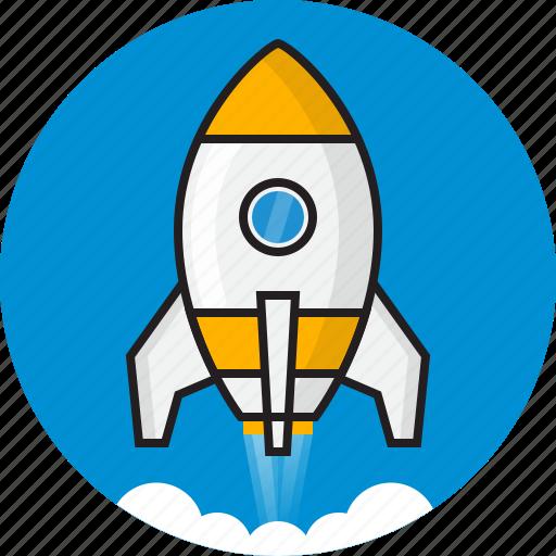 cloud, code, idea, rocket, space, speed icon