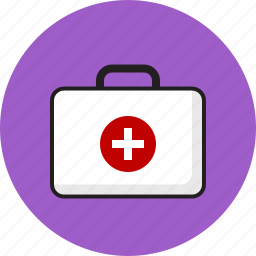 doctor, hospital, medical, plus, suitecase icon