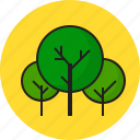 green, summer, travel, tree icon