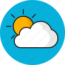 cloud, sky, summer, sun, weather icon