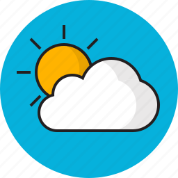cloud, sky, summer, sun, weather icon