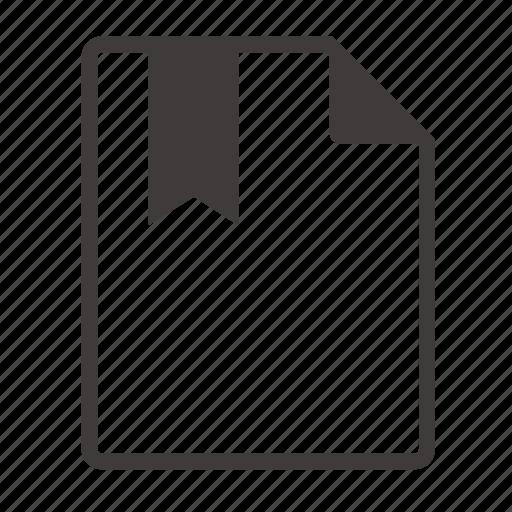 bookmarks, file icon