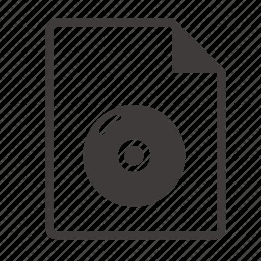 dvd, file icon