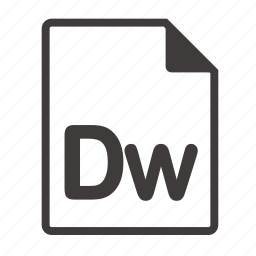 dw, file icon