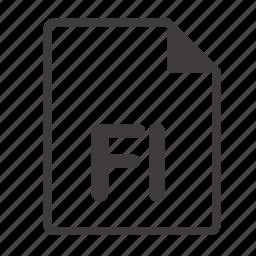 file, fl icon