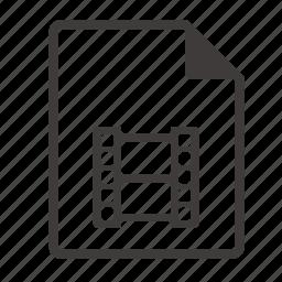 file, film icon