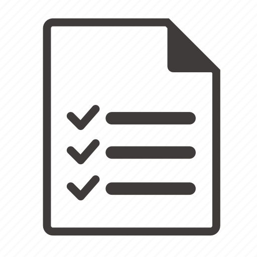 file, list icon