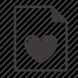 file, love icon