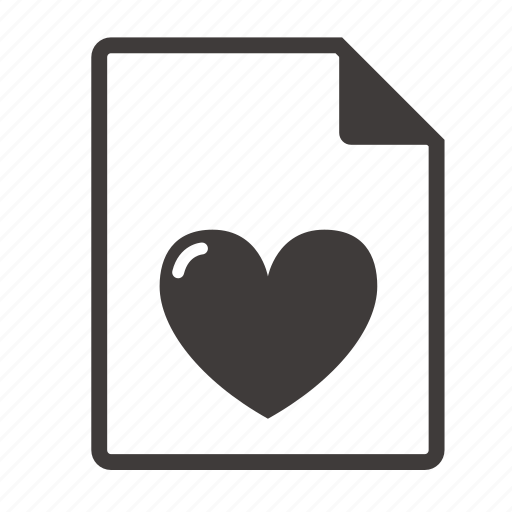 file, love icon