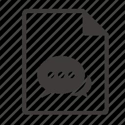 file, message icon