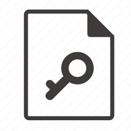 file, password icon