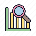 analysis, analytics, business, diagram, report, statistics, stats icon