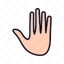control, gesture, hand, pause, stop, stop-gesture, swipe icon