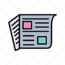 blog, communication, journal, magazine, newsletter, newspaper, press icon