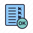 approve, approved, checkmark, confirm, ok, ok-fine, rong icon