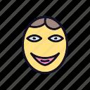 emoji, expression, ok, ok-smile, smile, tick, yes icon