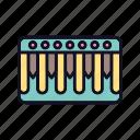 audio, digital, grand, instrument, keys, musical, piano icon