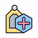 cassette, drug, liquid, measure, medical, medication, tag icon