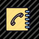 conversation, directory, notbook, telbook, telephone, telephone-directory icon